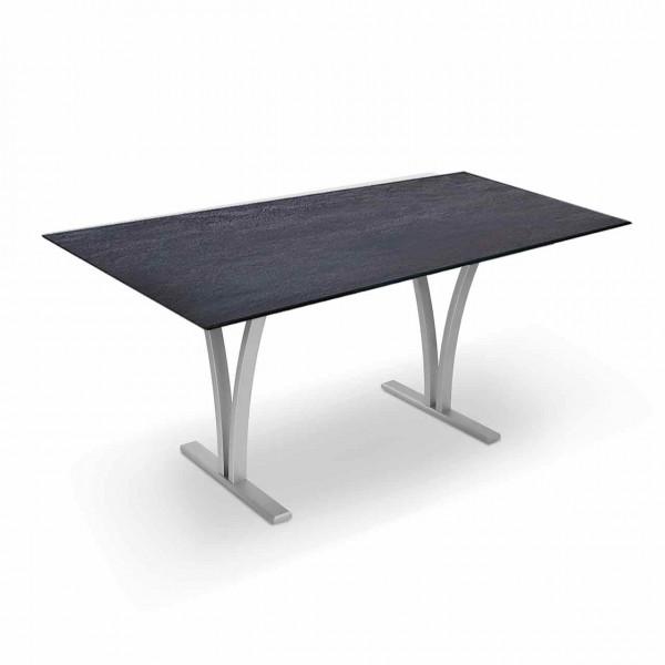 Ronald Schmitt – Maxi P4800E   Tischplatte Keramik Zement anthrazit, Gestell Metall