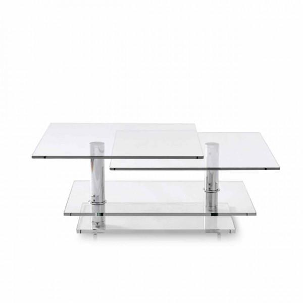 Ronald Schmitt – Couchtisch K500 | Tischplatte Optiwhite Glas