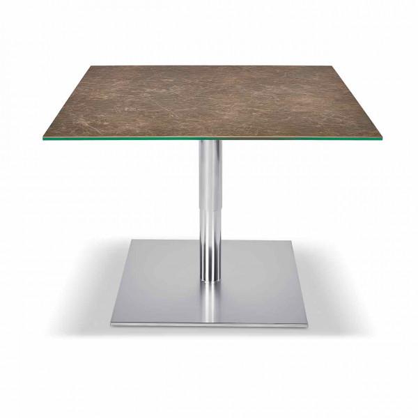 Ronald Schmitt – Couchtisch Sokrates K 570 | Tischplatte Keramik Marmor dunkel, oben