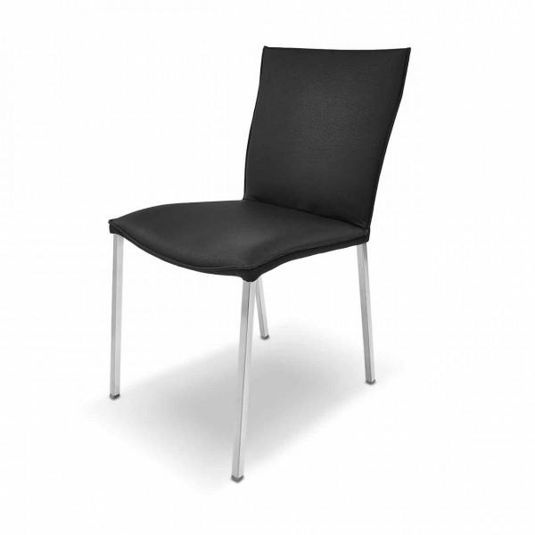 Ronald Schmitt – Stuhl STAY RST 153 ohne Armlehne | Bezug Leder TOLEDO Nero