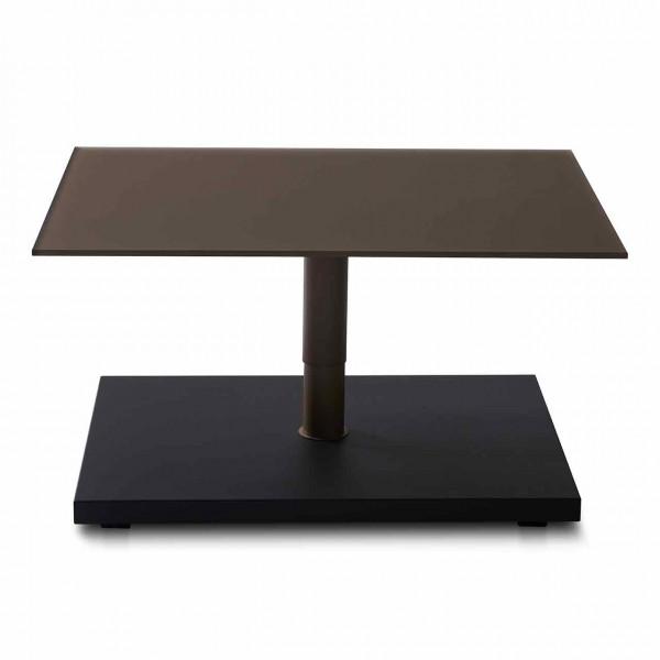 Ronald Schmitt – Couchtisch Kolo K 736   Tischplatte Optiwhite Nano Bronze, Sockel Wildeiche Anthrazit, unten