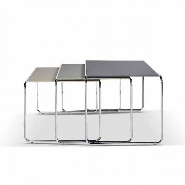 Ronald Schmitt – Couchtisch Bridge P 9011 Dreisatz | Tischplatte 50x43 + 50x47 + 50x50